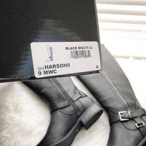 39cb2bda343 G by Guess Harson Tall Riding Boots Wide Calf 9 NWT
